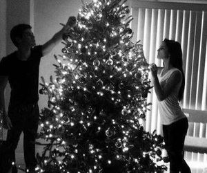 christmas, love, and couple image