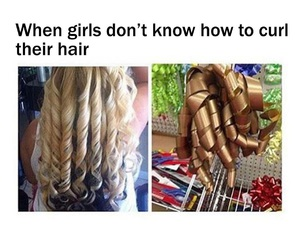 curls, hair, and funny image