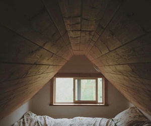 bedroom and slanted roof image