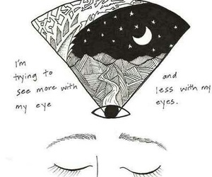 eyes, art, and moon image