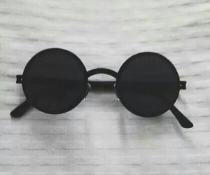 black, glasses, and grunge image