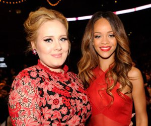 rihanna, Adele, and red image
