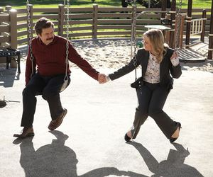 parks and recreation, leslie knope, and ron swanson image
