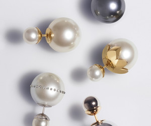earrings, dior, and pearls image