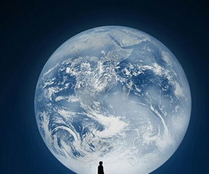 moon, world, and earth image