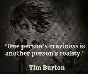 tim burton, reality, and crazy image