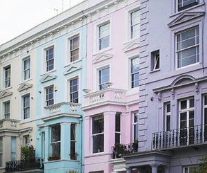 buildings, pastels, and colorful image
