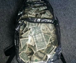 money and backpack image