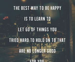 quotes, happy, and let go image