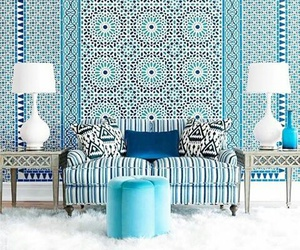 blue, design, and home image