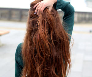 copper, curly, and fashion image