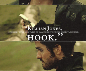 hook, once upon a time, and killian jones image