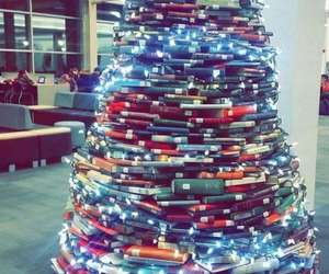 books, christmas, and library image
