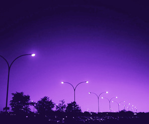 purple, light, and sky image