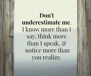 quote, think, and underestimate image