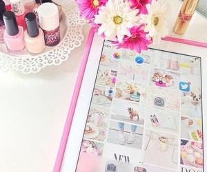 pink, ipad, and girly image