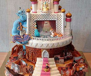 cake, disney, and aladdin image