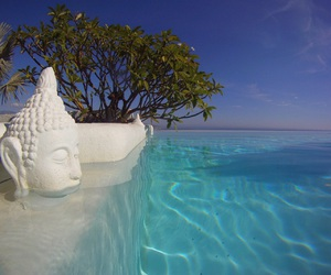 blue sky, Buddha, and vacation image
