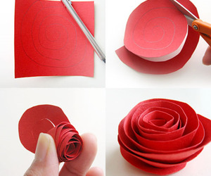 rose, diy, and red image