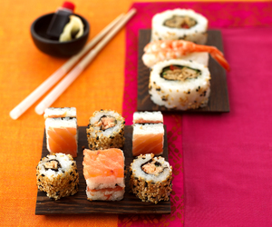 sushi, healthy, and japanese image