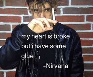 nirvana, grunge, and heart image