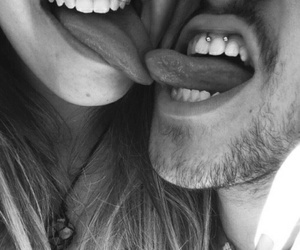 love, couple, and piercing image