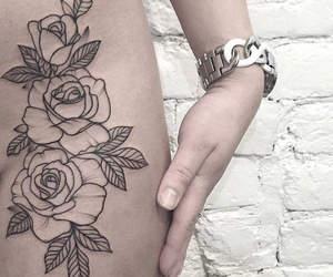 tattoo and roses image