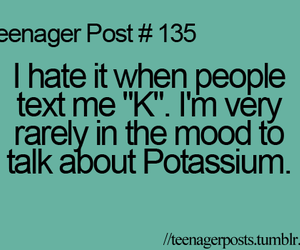 teenager post, text, and funny image