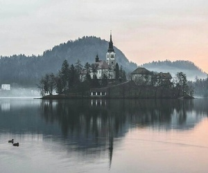 beautiful, castle, and lake image