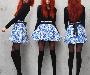 fashion, skirt, and red hair image