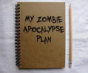 apocalypse, journal, and zombie image