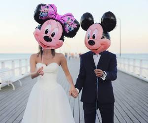 love, man, and minnie image