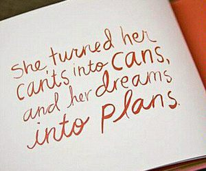 quote, Dream, and plan image