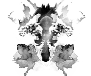 wolf, illustration, and rorschach image