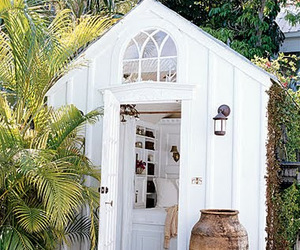 garden house, pretty, and tiny house image