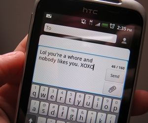 text and whore image
