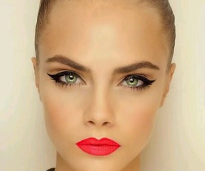 model, cara delevingne, and make up image
