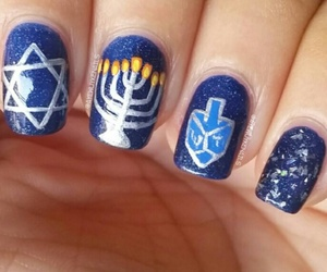 blue, silver, and hanukkah image