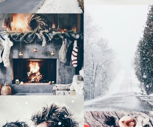 christmas, nieve, and cups image
