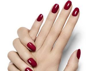 nails, nail polish, and red image