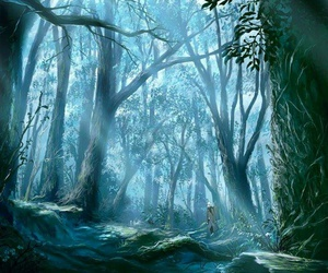 forest, anime, and tree image