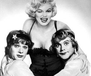 Marilyn Monroe, jack lemmon, and some like it hot image