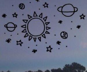 wallpaper, stars, and sun image