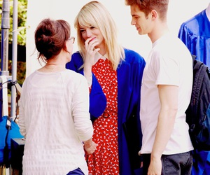 emma stone, spider-man, and peter parker image
