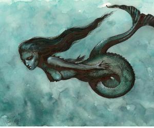 beauty, mermaid, and mystery image