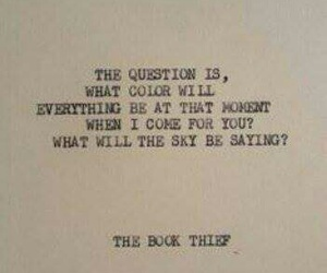 the book thief, quotes, and book image