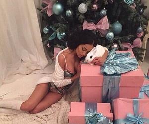 christmas, girl, and gift image