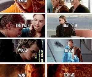 Anakin Skywalker, star wars, and obi wan kenobi image