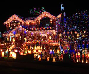 christmas, lights, and house image