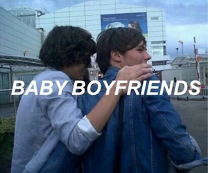 larry, baby, and boyfriend image